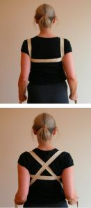 yoga strap, shoulders