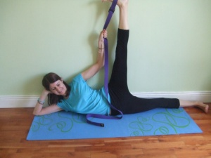 anantasana with strap from yoga365fitness.wordpress.com2