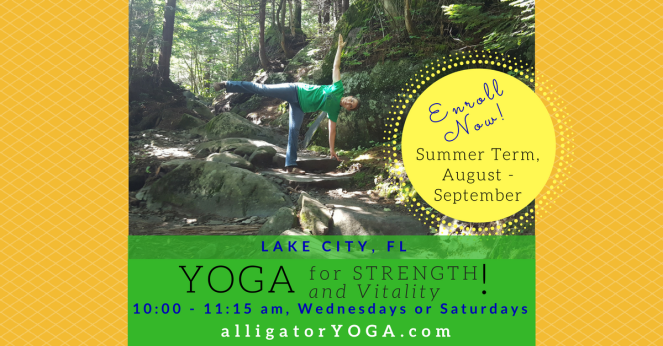 Wide image, Summer Term, Wed & Sat, Yoga for Strength & Vitality