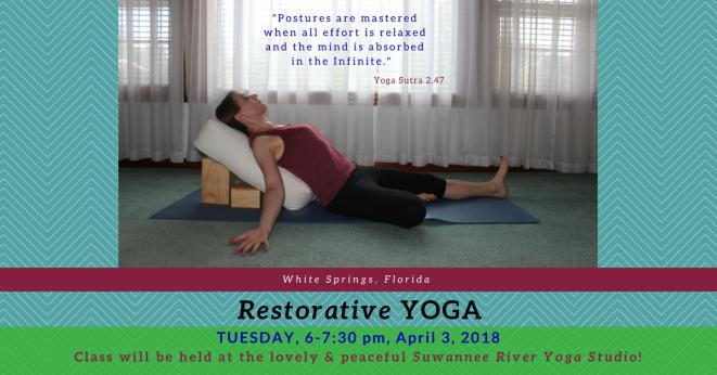 Restorative banner, April 3